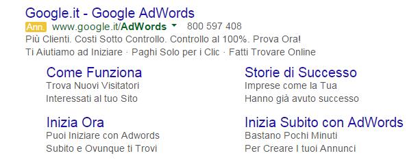 sitelink adwords